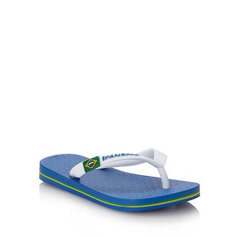 Ipanema - Boy+s blue classic logo flip flops