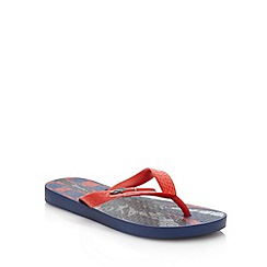 Ipanema - Boy's navy car printed flop flops