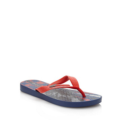 Ipanema - Boy+s navy car printed flop flops