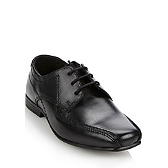 bluezoo - Boy's black leather lace up shoes