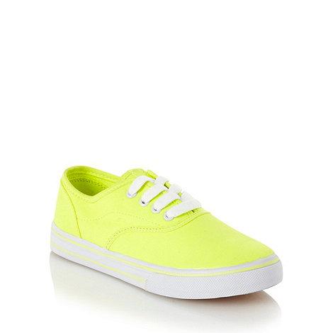 bluezoo - Children+s neon yellow canvas shoes