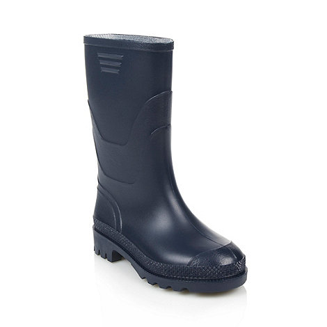 bluezoo - Boy+s navy wellies