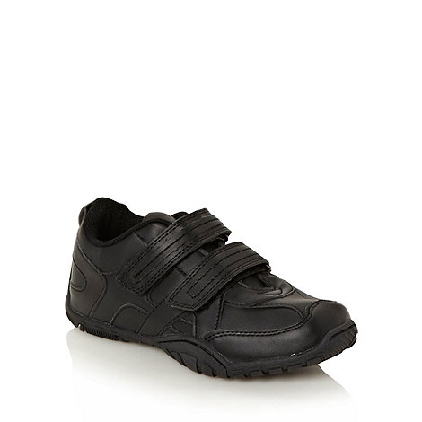 bluezoo - Boys' black rip tape fastened trainers