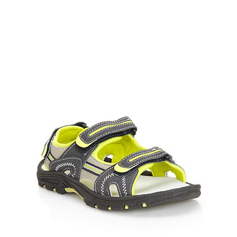 bluezoo - Boy+s grey highlighted strap sandals