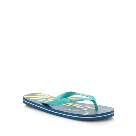 Mantaray - Boy+s navy logo flip flops