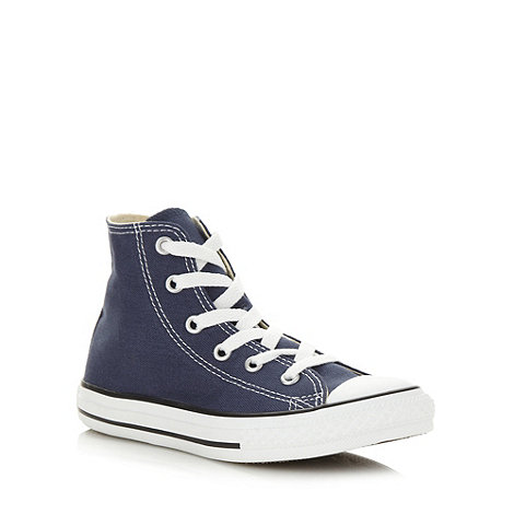 Converse - Children+s blue hi top trainers