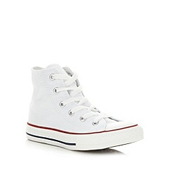 Converse - Childrens's white 'All Star' hi-top trainers