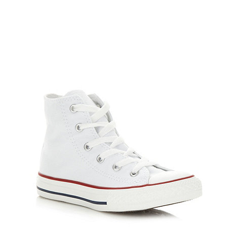 Converse - Childrens+s white +All Star+ hi-top trainers