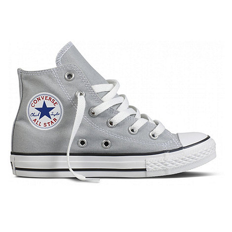 Converse - Boy+s Grey High Top Trainers