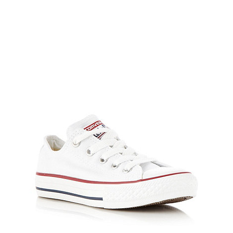 Converse - Boy+s white low top trainers
