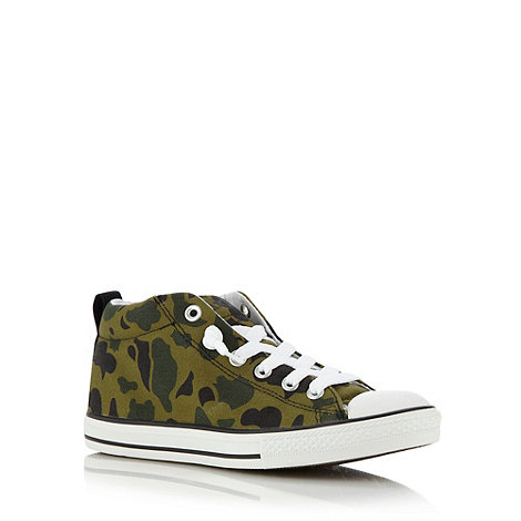 Converse - Boy+s green +All Star+ camouflage trainers