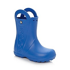 Crocs - Boy's bright blue handle wellies