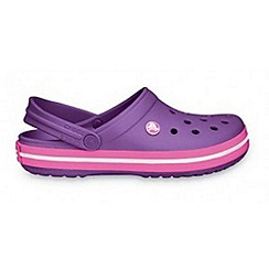 Crocs - Girl's purple 'Crocband' clogs