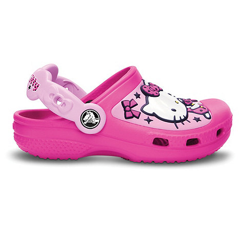 Crocs - Girl+s pink +Hello Kitty+ clogs