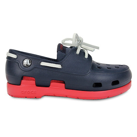 Crocs - Boy's navy beach boat shoes