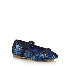 bluezoo - Girls' blue glitter bow pumps