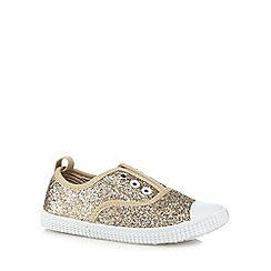 bluezoo - Girls' gold glitter lace free shoes
