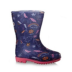 bluezoo - Girls' unicorn print wellies