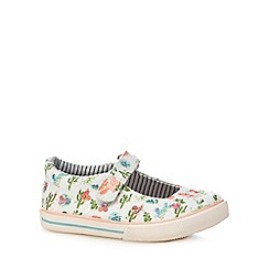 Mantaray - Girls' multi-coloured floral print Mary Jane shoes