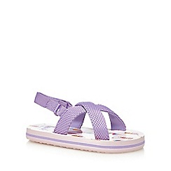 bluezoo - Girls' purple ice cream print flip flops