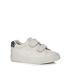 bluezoo - Girls' white glitter back tab 2 tab trainers