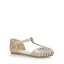 RJR.John Rocha - Girls' gold jewel t-bar caged toe sandals