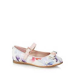 Baker by Ted Baker - Girl's multi coloured forget me not floral print pumps