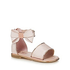 Baker by Ted Baker - Girls' light pink bow applique sandals