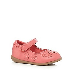 bluezoo - Girls' pink floral applique shoes