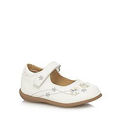 bluezoo - Girls' white applique flexi-sole shoes