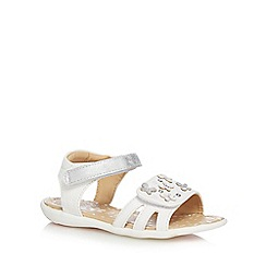 bluezoo - Girls' white floral applique sandals