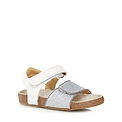 bluezoo - Girls' white glitter footbed sandals