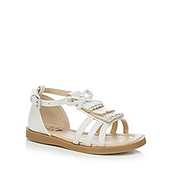 bluezoo - Girls' white fringed sandals