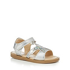 bluezoo - Girls' silver glitter star sandals