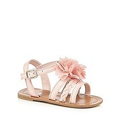 bluezoo - Girls' pink corsage party sandal