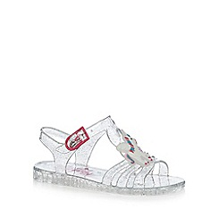 bluezoo - Girls' Silver unicorn sandals