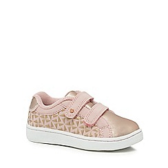 Baker by Ted Baker - Girls' pink embossed riptape trainers