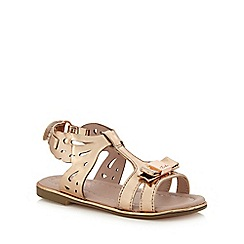Baker by Ted Baker - Girls' gold butterfly sandals