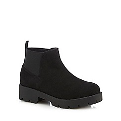 bluezoo - Girls' black chunky Chelsea boots
