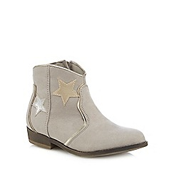 Mantaray - Girls' beige star ankle boot