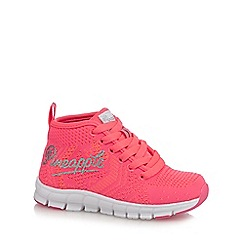 Pineapple - Girls' neon pink lace-up midi trainers