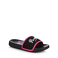 Pineapple - Girls' black logo flip flops