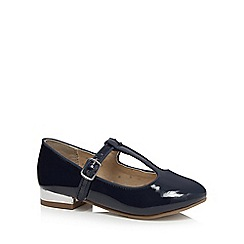 bluezoo - Girls' navy patent t-bar Mary Jane shoes
