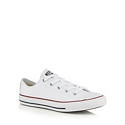 Converse - Boys' white 'Core' leather trainers