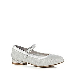 J by Jasper Conran - Girls' silver Mary Jane sandals