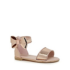 Baker by Ted Baker - Girls' rose gold bow sandals
