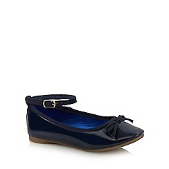 Debenhams - Girls' navy ballet shoes