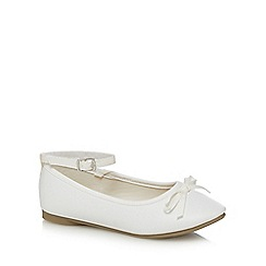 Debenhams - Girls' white ballet shoes