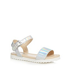 bluezoo - Girls' silver metallic sandals