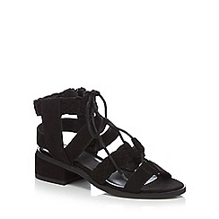 bluezoo - Girls' black ghillie sandals
